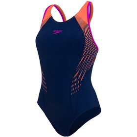 speedo Fit Laneback Badedrakt Dame Orange/Blå